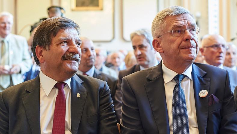 Były przewodniczący NSZZ Solidarność, poseł PiS Janusz Śniadek oraz marszałek Senatu Stanisław Karczewski