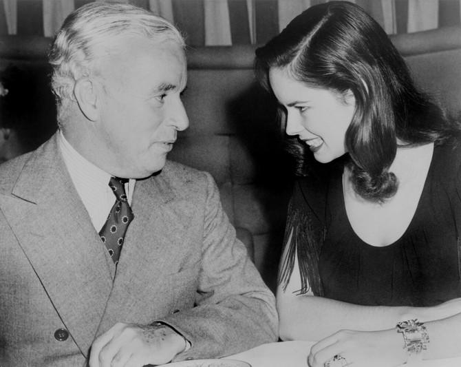 Una i Čaplin 1944. u noćnom klubu u Holivudu