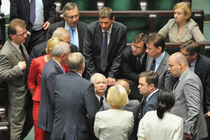 Jarosław Kaczyński na luzie