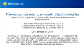 Playstation Plus - wyższa cena subskrypcji od września