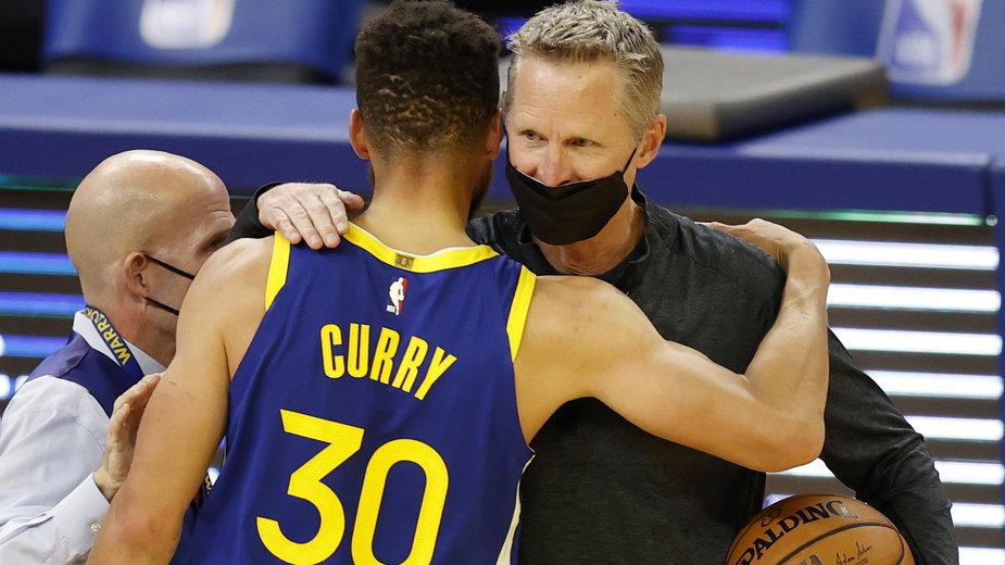 Stephen Curry podczas meczu Denver Nuggets - Golden State Warriors