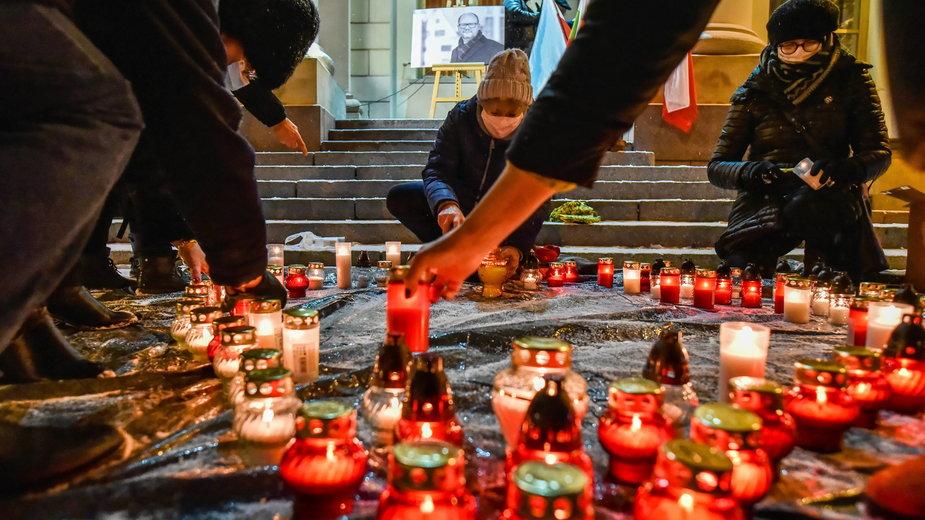 Upamiętnienie Pawła Adamowicza w Lublinie