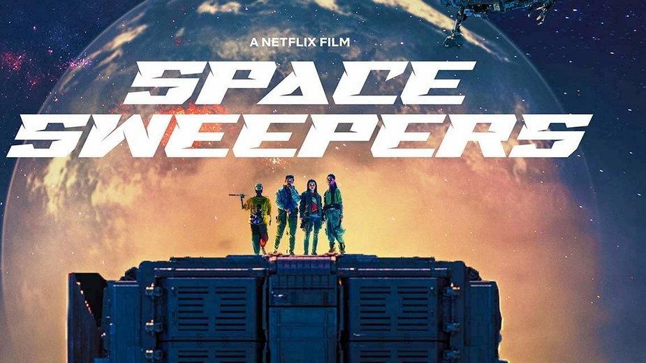 """Fragment plakatu do filmu """"Space Sweepers"""""""