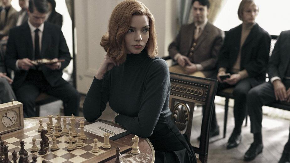 "Anya Taylor-Joy w serialu ""Gambit królowej"""
