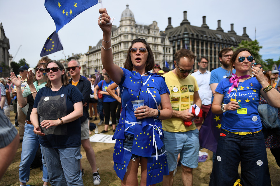 epa06833891 - BRITAIN BREXIT PEOPLES MARCH (People's March Against Brexit in London)