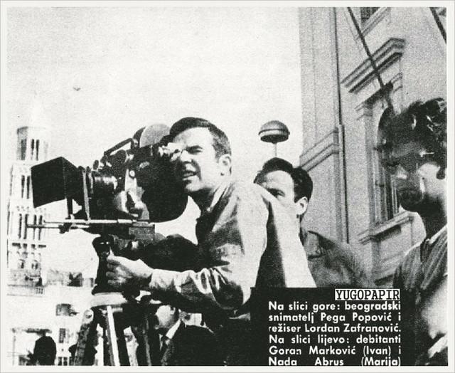 Arhiv: Na jednom od prvih filmskih setova (Lordan je desno)