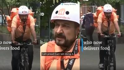 """""""I'm proud my soul is happy"""" – Ex-Communications Minister becomes food delivery man (video)"""