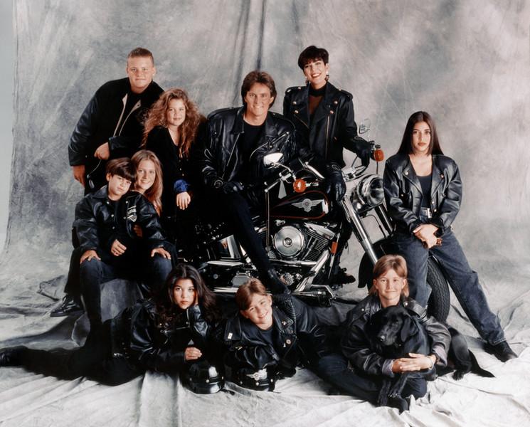 1993: Jenner / Kardashian family portrait in Los Angeles, California.  (Photo: Maureen Donaldson / Michael Ochs Archives / Getty Images)