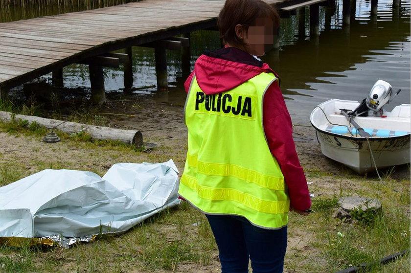 Łódź wędkarska wywróciła się na jeziorze pod Ostródą