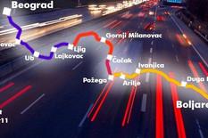 Auto put preko Ivanjice ilustracija B.Bojovic