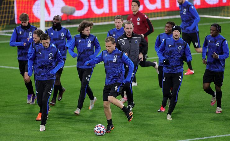 Fudbaleri Briža na treningu
