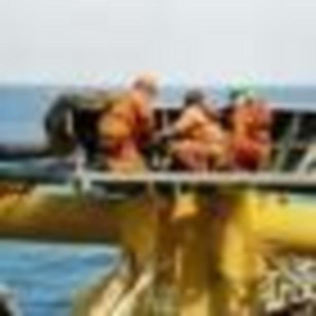 Platforma wydobywcza ropy naftowej i gazu ziemnego.