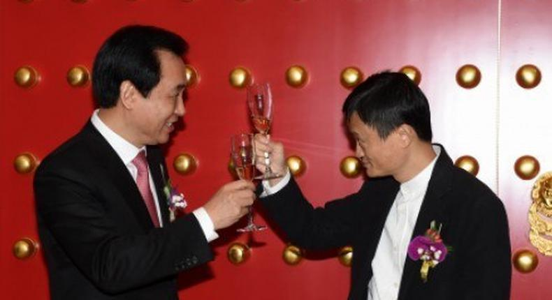 Billionaires Hui Kai-yan and Jack Ma cheer Guangzhou Evergrande's stock listing. Will they take their riches to the English Premier League?