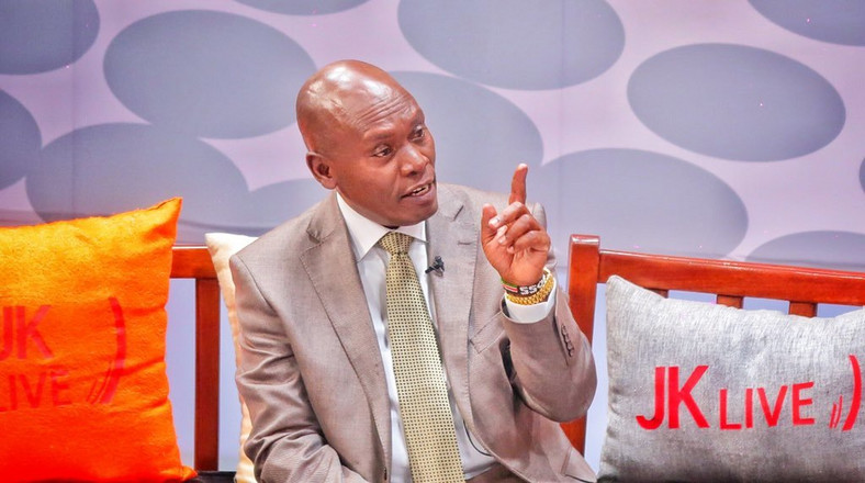 William Kabogo on the JKL show which aired on Wednesday (Twitter)