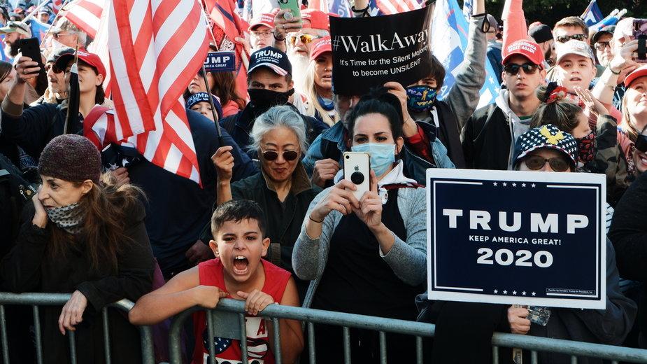 Demonstracja zwolenników Trumpa w Waszyngtonie