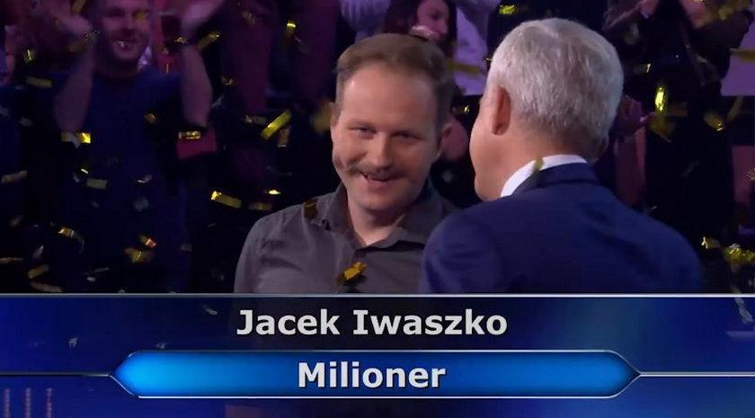"""""""Milionerzy"""". Jacek Iwaszko wygrał milion złotych"""