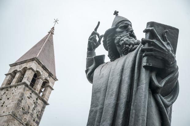 Rzeźba Grgura Ninskiego w Splicie