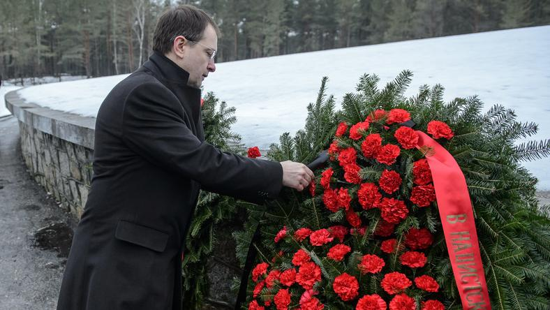 Minister kultury Federacji Rosyjskiej Władimir Medinski