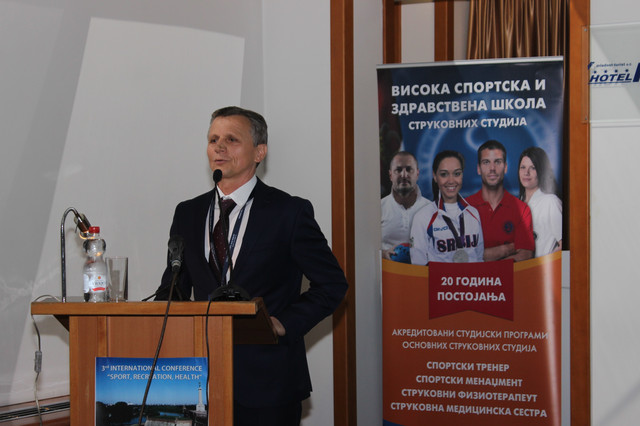 Prof. dr Branko Bošković, direktor Visoke sportske i zdravstvene škole strukovnih studija
