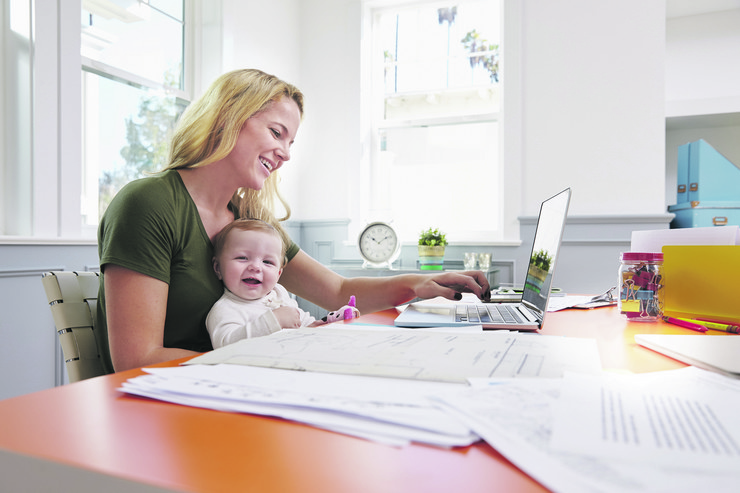 stock-photo-busy-mother-with-baby-running-business-from-home-433001470