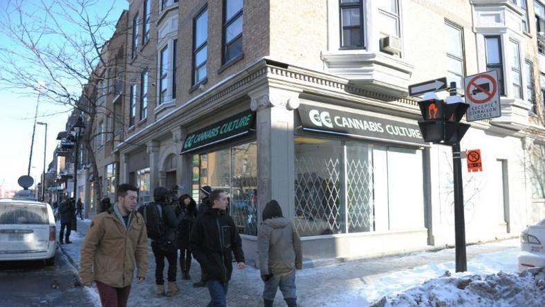 One of the illegal recreational cannabis stores that were opened recently in Montreal, Quebec