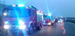 Poważne utrudnienia na A2 pod Poznaniem. Zderzyły się 4 samochody