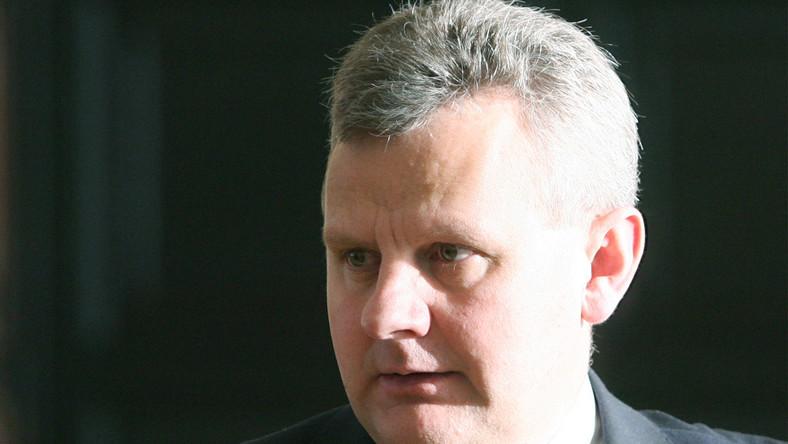 Minister skarbu Aleksander Grad.