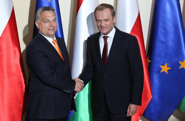 Premier RP Donald Tusk i premier Węgier Viktor Orban w Warszawie. Fot. PAP/Rafał Guz