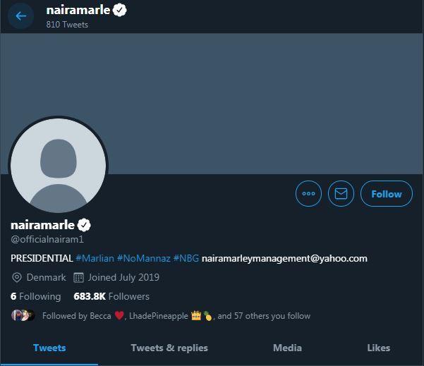 Nigerian rapper, Naira Marley has had his fair share of social media drama as his Twitter account was recently hacked. [Twitter/NairaMarle]