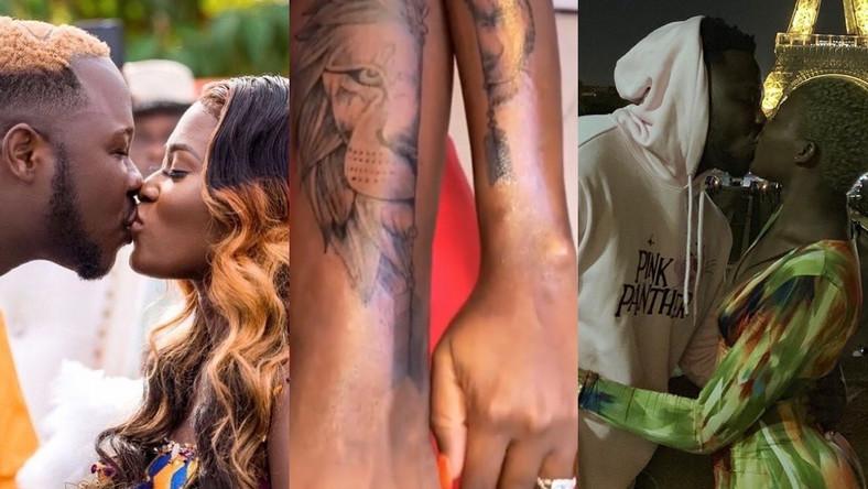 Medikal, Fella Makafui strengthen their love as they get matching tattoos