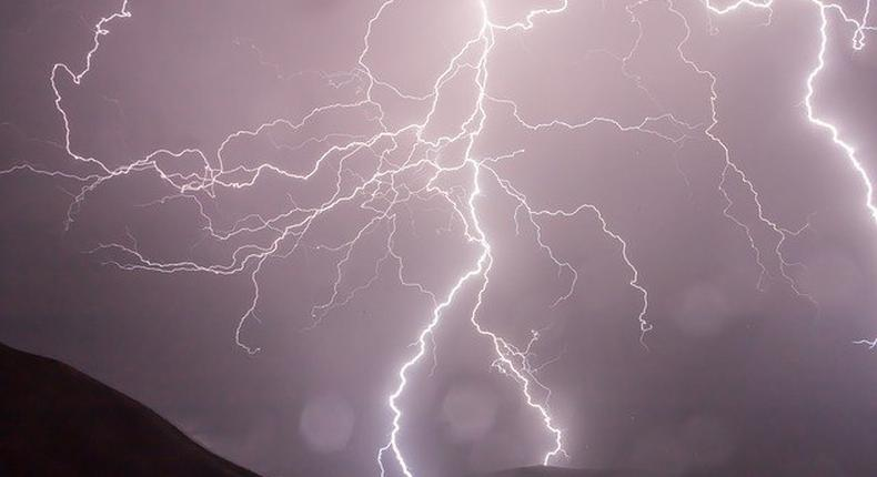 A lightning in a thunder storm (Courtesy)