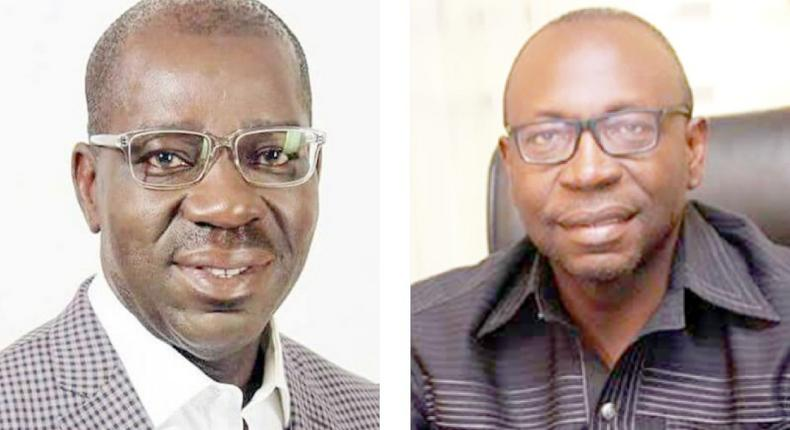 Governor Godwin Obaseki (left) and Osagie Ize-Iyamu (right) are the two main candidates contesting the September 19 election [Daily Trust]