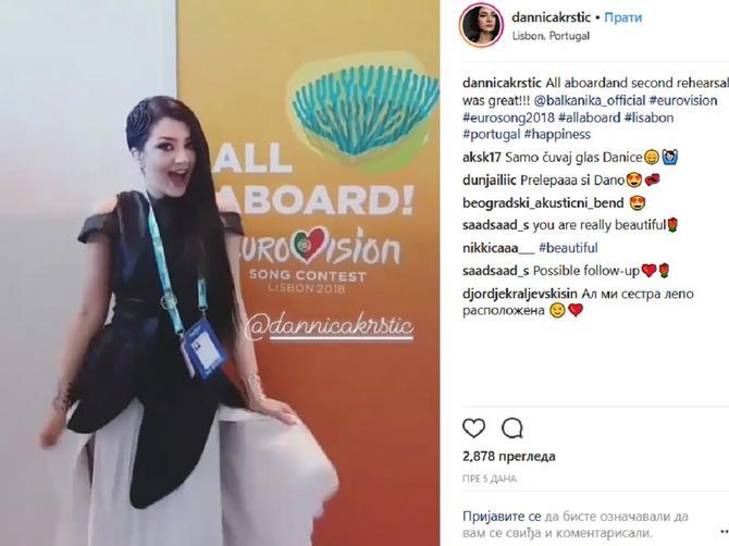 Danica Krstić otkrila detalj iz bekstejdža: Evo kako se pripema ZA VEČERAŠNJI NASTUP
