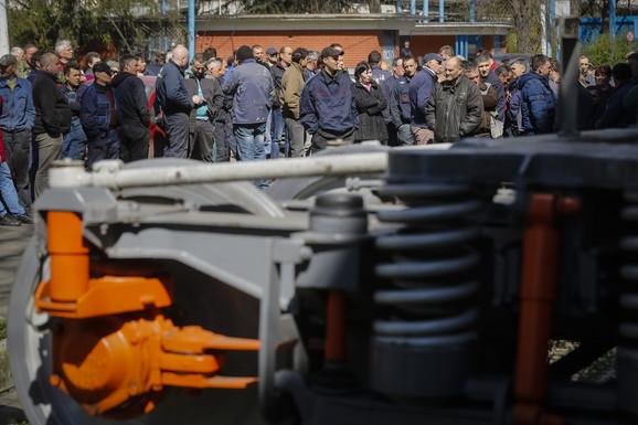 Jedno od okupljanja radnika