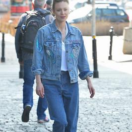 Magdalena Boczarska w jeansowym wydaniu w telewizji