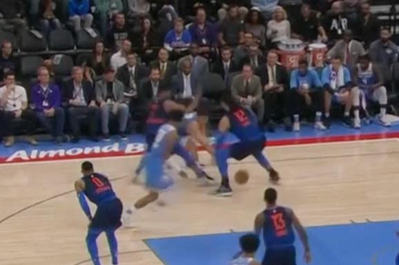 POZDRAV IZ ZEMLJE KOŠARKE Pogledajte kako je Bogdan IZIGRAO PROTIVNIKA u NBA ligi /VIDEO/
