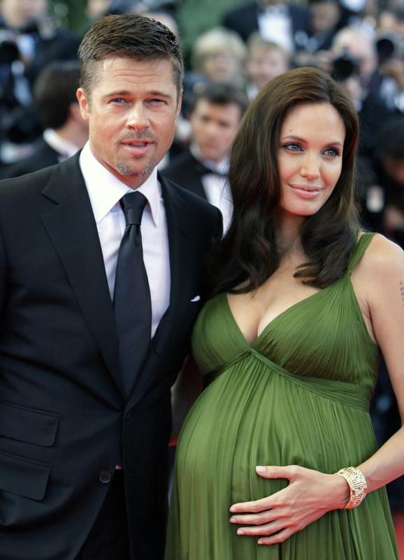 Anđelina iz vremena kada je bila trudna sa Bredom