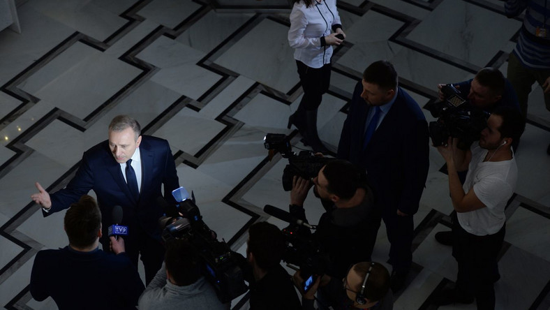 Lider PO Grzegorz Schetyna w Sejmie