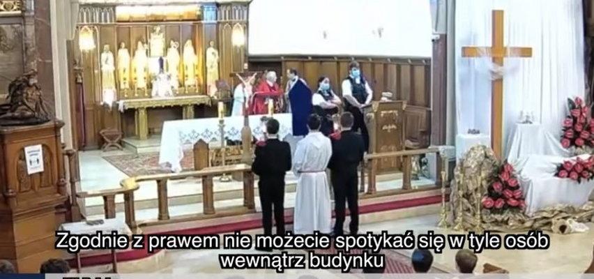 Policjanci wyrzucili Polaków z kościoła. Teraz wyrażają ubolewanie