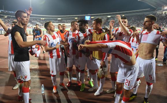Fudbaleri Zvezde slave bod protiv Napolija