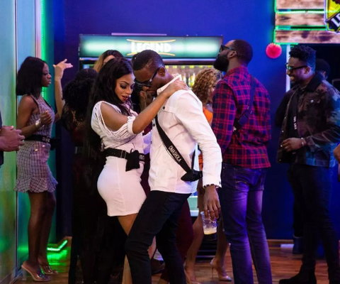 Venita and Omashola failed to hold back their sadness after losing to team Enigma for the second time in a row. [Africa Magic/BBNaija]