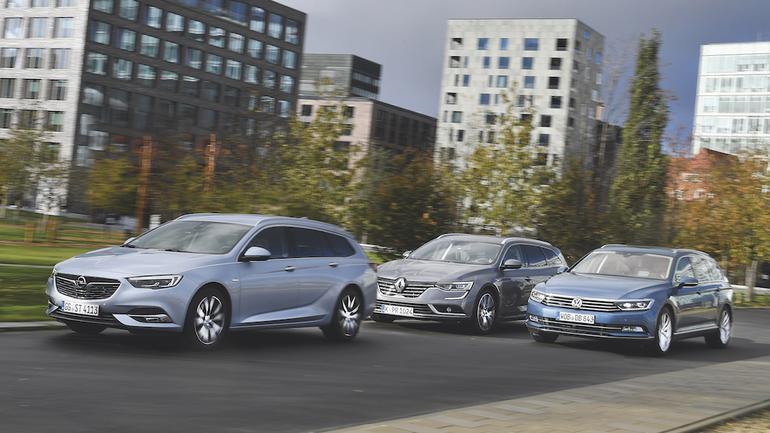Opel Insignia Sports Tourer kontra Renault Talisman Grandtour i Volkswagen Passat Variant