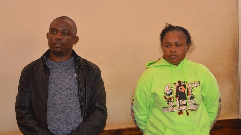 Joseph Kori (L) with Judy Wangui who are accused of killing Kori's wife Mary Wambui.  Suspect confesses role in Mary Wambui's murder, reveals chilling details