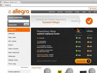 Allegro screen home page