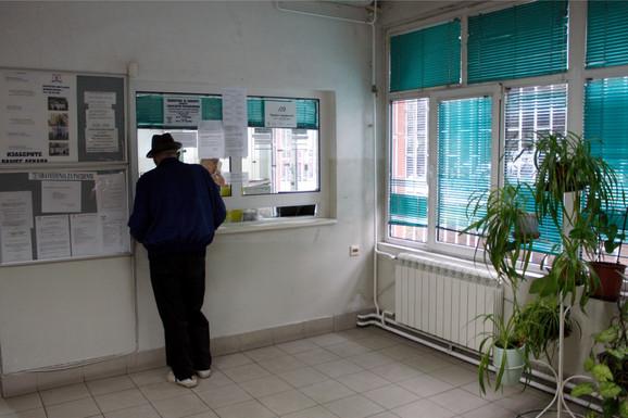 Čekaonica u jednom Domu zdravlja u prestonici