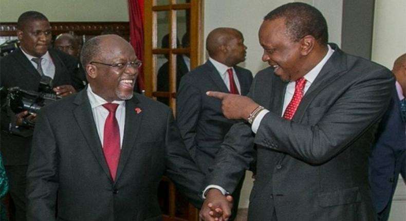 John Pombe Magufuli and Uhuru Kenyatta