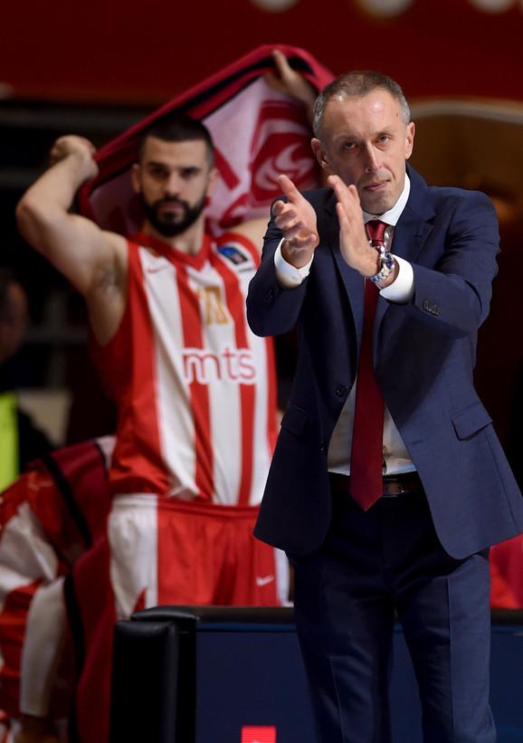 Branko Lazić i trener Zvezde Milan Tomić