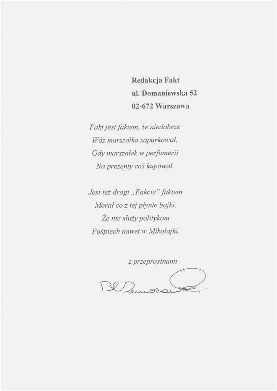 komorowski, przeprosiny, wiersz