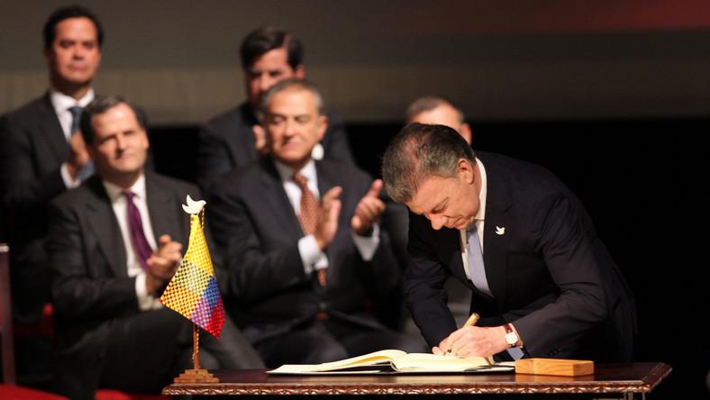 Prezydent Kolumbii podpisał porozumienie z FARC