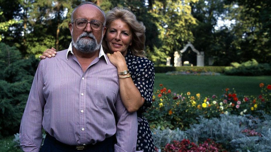 Krzysztof Penderecki z żoną Elżbietą, 2006 rok